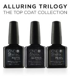 CND Shellac - Alluring Top Coat Trilogy 3 x 7.3ml